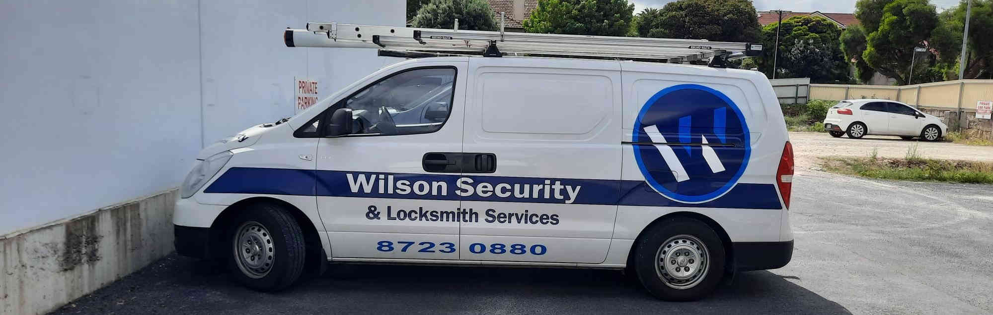 Technician van- Wilson Secuurity & Locksmith Services