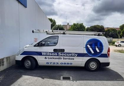 Wilson Security technician van on patrol